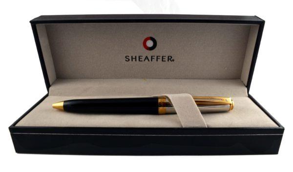 Długopis Sheaffer Prelude Czarno-Złoty Lakier + Pallad 22K